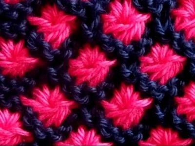 Cómo Tejer Flores en Colores-Knit Flowers in Colors 2 Agujas (363)