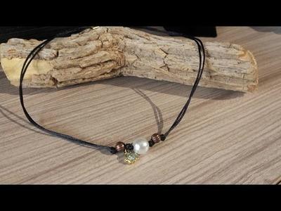 DIY: Collar choker muy fácil. (gargantilla). Choker necklace very easy.