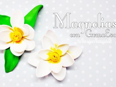 DIY: Magnolias hechas con Goma Eva. Foamy - Brotes de Creatividad