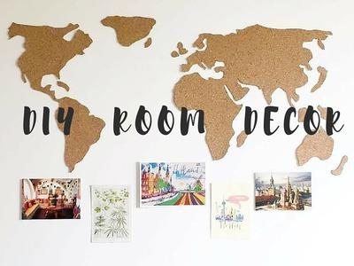 DIY Room Decor | MAPA DE CORCHO