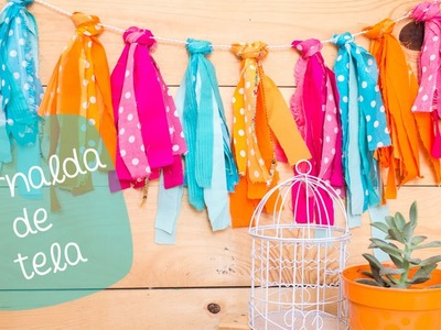 Guirnalda de TELA | DIY Roomdecor. BigCrafts