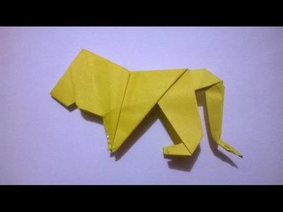 LEON DE PAPEL - origami paper lion