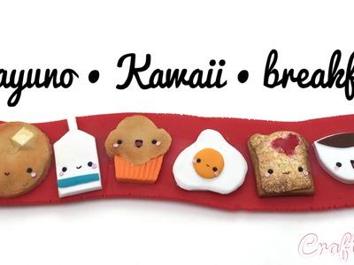 Desayuno - Kawaii - Breakfast (polymer clay - arcilla polimérica)