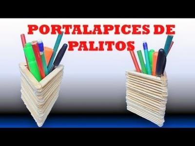 DIY :  Como Hacer un Portalapices con Palitos de Helado