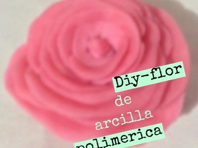 Diy-flor con arcilla polimerica. Polymer Clay flower.❤️