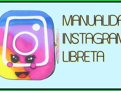 Manualidades fáciles libreta nuevo logo de instagram kawaii con goma eva