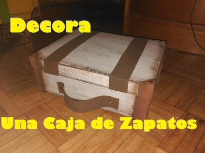 Recicla una caja de zapatos en una maleta [ MANUALIDADES FACILES]