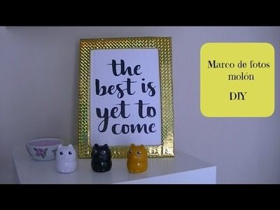 Redecorando mi tocador: Marco de fotos molón - DIY - Manualidades