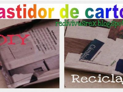 Bastidor-lienzo reutilizando cartón.Reciclaje.DIY