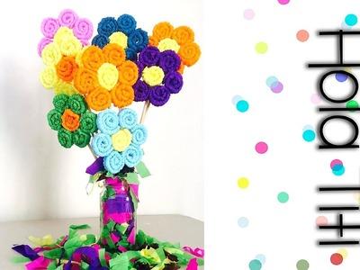 Cómo hacer flores de papel crepe - Hola Titi DIY