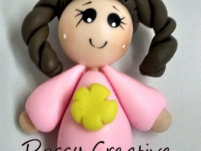 DIY Muñeca sencilla en porcelana fria. How to make cold porcelain simple doll