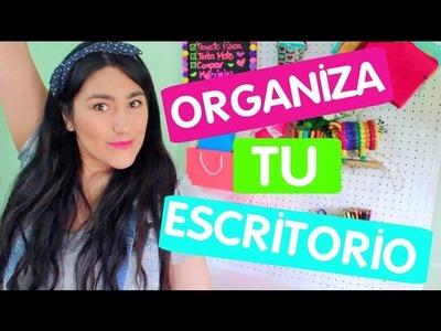 DIY - ORGANIZA Y DECORA TU ESCRITORIO ♡ REGRESO A CLASES!!- ILSE GOMEZ