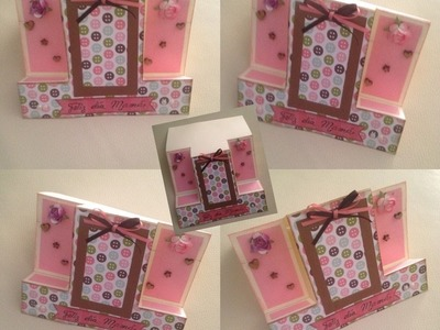 DIY:  tarjeta pop Dia de la madre. mamá. mother day. scrapbook. card making