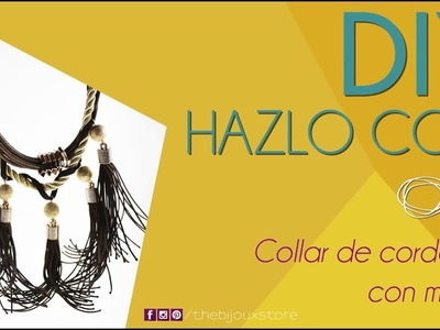 DIY tutorial Collar de cordones con Motas