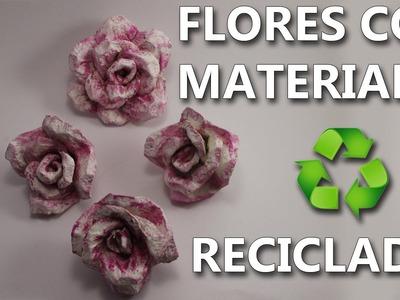 COMO HACER FLORES DE CARTON DE HUEVO | Manualidades con reciclaje faciles de hacer y bonitos