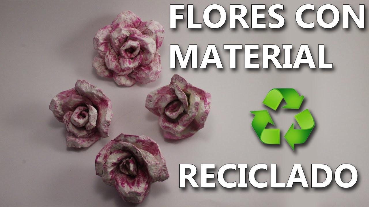 Como Hacer Flores De Carton De Huevo Manualidades Con Reciclaje