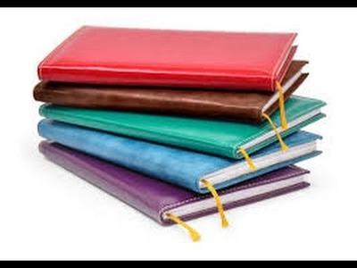 Como hacer una agenda ,diaria. muy facil y divertido - manualidades y mas,en bio cuero muy casero