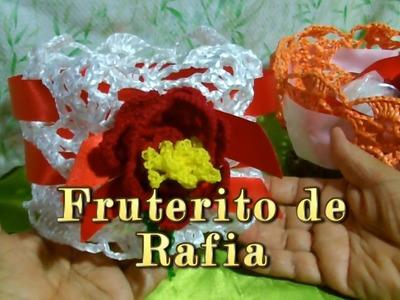 Fruterito de rafia |Creaciones y manualidades angeles