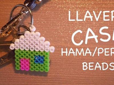Hama. Perler Beads - Llavero Casa