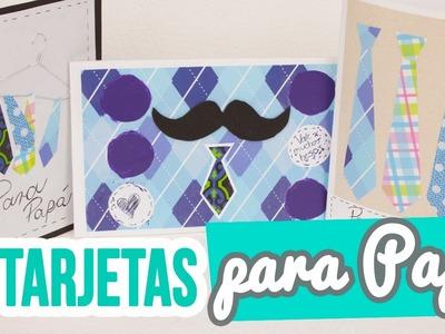 Manualidades para el Día del Padre | ✄ ¡3 Tarjetas fáciles para regalar! | Ideas Día del Padre | ♥