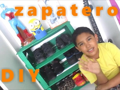 Zapatero de guacales para niños *Andy Llaya Manualidades*