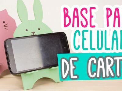 Base para Celular.Móvil de Cartón muy Kawaii ❤ | Porta Celular Manualidades ✄ | Catwalk