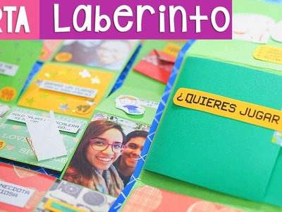CARTA LABERINTO: Regalo original para amiga o novio (Fácil) ✄ Craftingeek