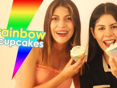 Cocina sin censura : Rainbow Cup Cakes | Ft. Karen Rios