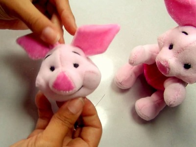 Como hacer peluche de Piglet | How to make stuffed of Piglet - Loou