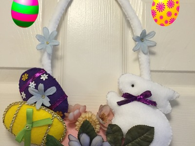 Diy:Manualidades de Pascua para la puerta (Happy Easter decoration)