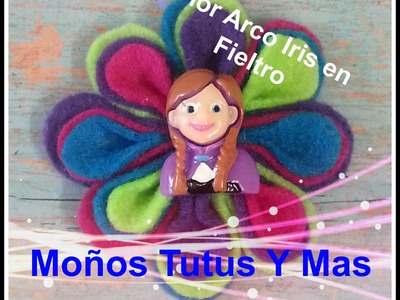 FLOR DE COLORES EN FIELTRO Paso a Paso RAINBOW FELT FLOWER Tutorial DIY How To PAP