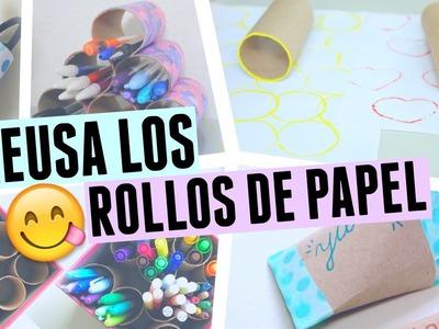 MANUALIDADES PARA REUTILIZAR LOS ROLLOS DE PAPEL - Bright Brenda