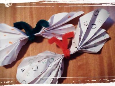 Mariposa hecha con papel