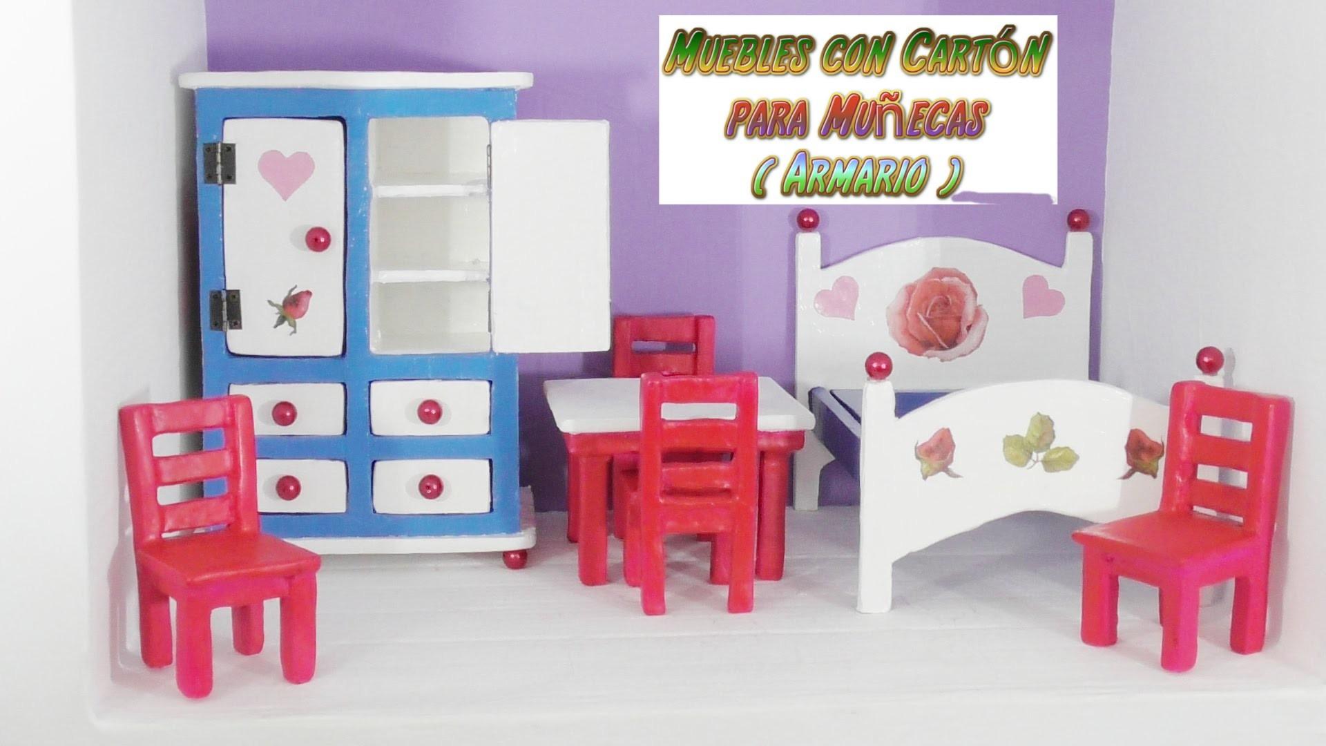 Muebles de cart n para casas de mu ecas tutorial armario for Muebles de carton pdf