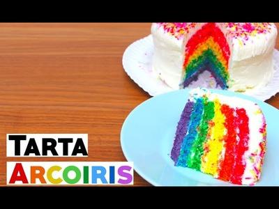 Tarta arcoiris | Rainbow cake con SumiBunny