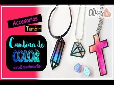 DIY: Accesorios tumblr que cambian de color - Super fácil