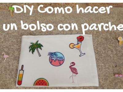 Diy - Bolso con parches y pins  ¡¡¡ SUPER FÁCIL !!! | candermich