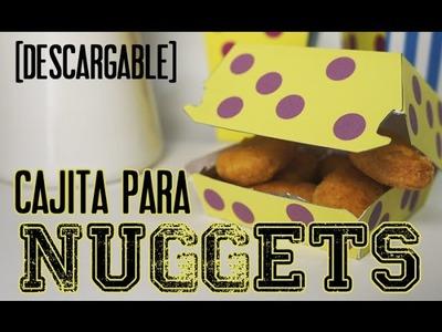 DIY Cajita para nuggets (con descargable gratuito)