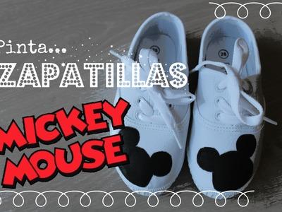 DIY - PINTA UNAS ZAPATILLAS DE #MICKEY MOUSE