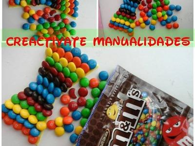 Moño hecho de dulces, D.Y.I. Moños de fantasia, D.I.Y Candy bows, CREATIVATE MANUALIDADES