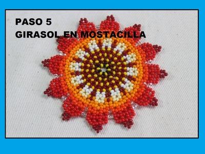 PASO CINCO  GIRASOL EN MOSTACILLA SALUDOS