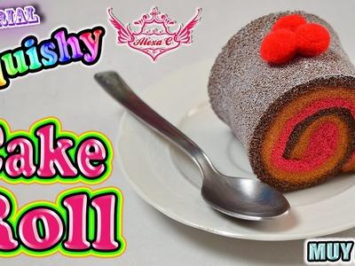 ♥ Tutorial: Cake Roll.Pastelito Squishy (Muy Fácil) ♥