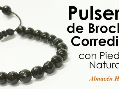 Tutorial - Pulsera de Piedras Negras con Broche Corredizo