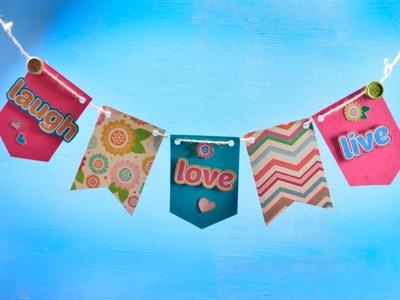 Cómo Hacer Banderines para Fiestas | Manualidad de Scrapbook