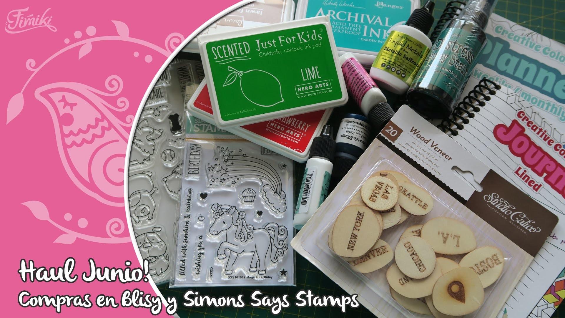 Haul de Scrapbooking, compras en Blitsy y Simons Says Stamps