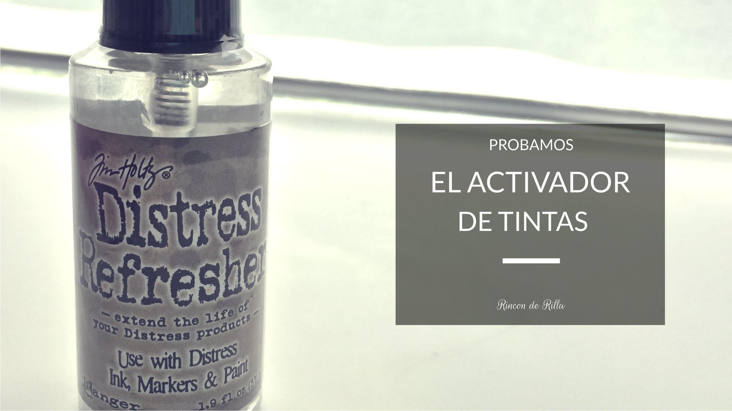 Scrapbooking: Probando el Distress Refresher. Alargar la vida de pintura, tinta y rotus.