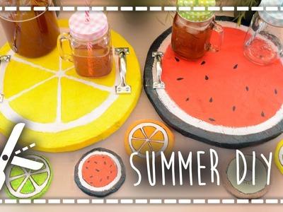 Summer DIY - Bandeja y posavasos frutales