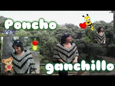 COMO TEJER  PONCHO  fAcil GANCHILLO O CROCHET de verano