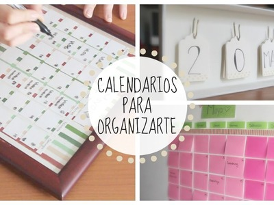DIY: Calendarios para el COLEGIO o la UNIVERSIDAD