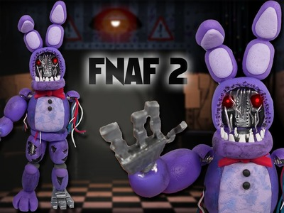 FNAF 2 ✰ WITHERED BONNIE Posable Figure Tutorial ✔ Polymer Clay ✔ Porcelana Fría